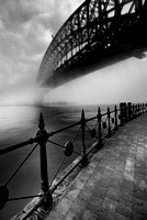 The Bridge in Fog - B&W